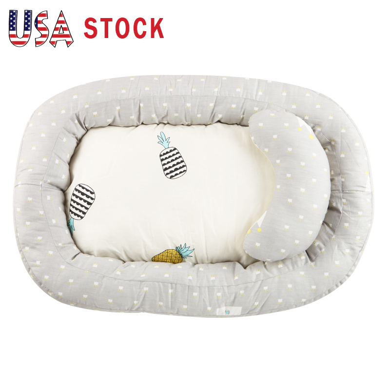 cotton baby bassinet portable lounger bed newborn
